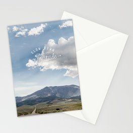 Slow Down & Go Outside - The Open Road Stationery Cards