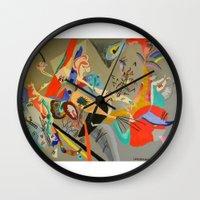 kandinsky Wall Clocks featuring Kandinsky Composition Study by Andrew Sherman