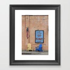 River Walk City Market Framed Art Print