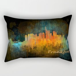 Frankfurt am Main, City Cityscape Skyline watercolor art v4 Rectangular Pillow