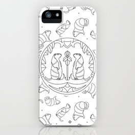 Background with animals. Groundhog animal iPhone Case