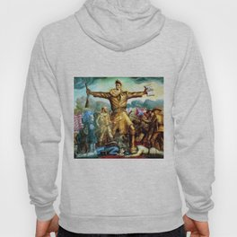 Classical Abolitionist Masterpiece by John Steuart Curry - Tragic Prelude  - John Brown. Hoody