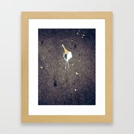 Tragedy on the streets of New York Framed Art Print