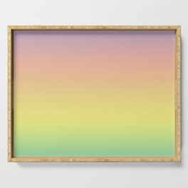 Pastel Colorful Pattern Abstract Rainbow Multi Colored Texture Serving Tray