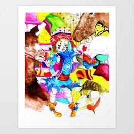 She Flew Away Art Print