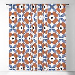 Moroccan Tile - poppy Blackout Curtain