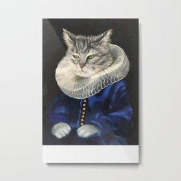 Shakespeare Cat Metal Print