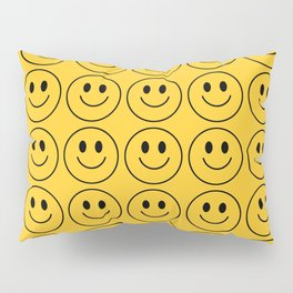 Smiley Face Pattern - Super Yellow Variant Pillow Sham