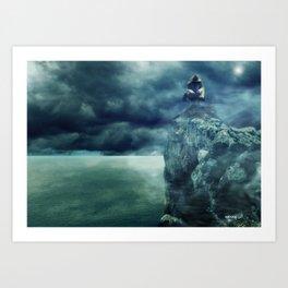 Sombre Remorse Art Print