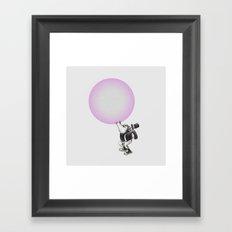 Bubblegum Blowing Champion Framed Art Print