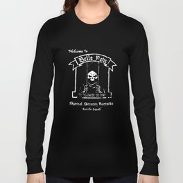 Suicide Squad Welcome To Belle Reve Black Charcoal Heather Squad T-Shirts Long Sleeve T-shirt