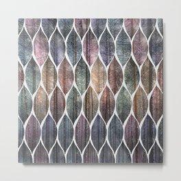 Metallic Leaf Pattern 2 Metal Print