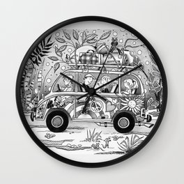 HOP ON THE BUS! Wall Clock