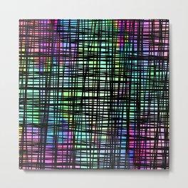 Colorful striped DP035-1 Metal Print