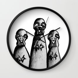 Ghosts of War (Famine, Anarchy, Plague) Wall Clock
