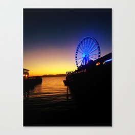 Seattle Pier Canvas Print