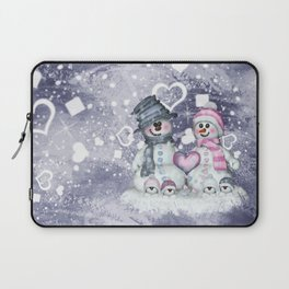 Snowman family Laptop Sleeve