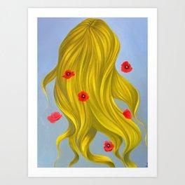 """Poppies"" (Wild Swans) Art Print"