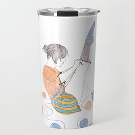 Sock Knitster Girl Mug Travel Mug