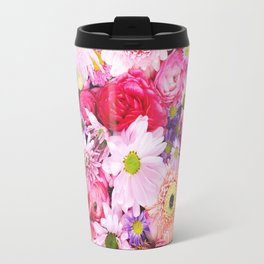 Bloom Bright Flower Photography Flat Lay Travel Mug