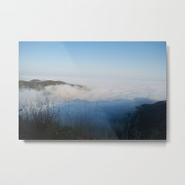 Thick Blankets of Mist Turn Blue in the Shadows of Sunset in June Metal Print