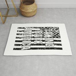 Taking Back America print American Flag product Rug