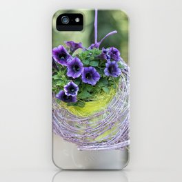 hanging bellflower for home decor iPhone Case