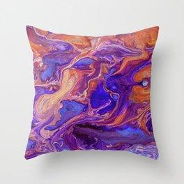 Fluid Color Throw Pillow