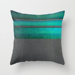 """Architecture, cement texture & colorful II"" Throw Pillow"