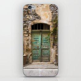 The Old Turquoise Door iPhone Skin