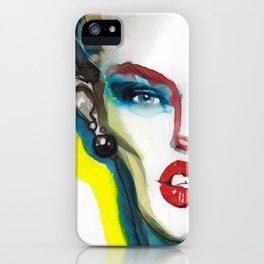Fashion illustration iPhone Case