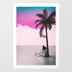 Under the palm tree Art Print