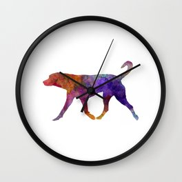 Transylvanian Hound in watercolor Wall Clock