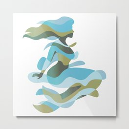 Aquatic Woman Metal Print