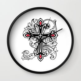 Gothic cross Wall Clock