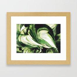 Hosta Hugs Framed Art Print