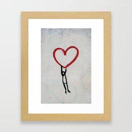 heart wall Framed Art Print