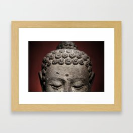 Red Meditation Framed Art Print