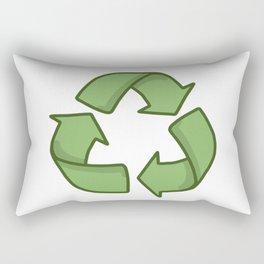 Recycle Symbol Rectangular Pillow