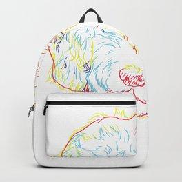 Curious Golden Doodle  Backpack