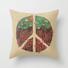 Peaceful Landscape Throw Pillow