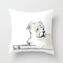 Pete - PetBunch by Friztin Throw Pillow