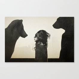 Unusual Encounter Canvas Print