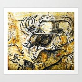 Panel of Rhinos // Chauvet Cave Art Print