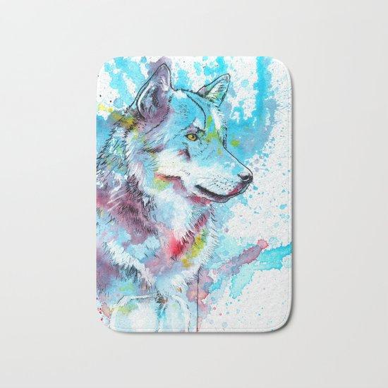 Wild Wolf Bath Mat