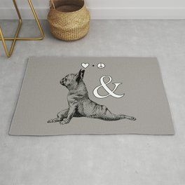 LOVE PEACE AND YOGA Rug
