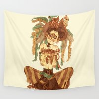 pirate Wall Tapestries featuring Pirate by Fabio Mancini