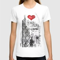 hong kong T-shirts featuring I love Hong Kong  by sladja