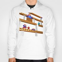 donkey kong Hoodies featuring Inside Donkey Kong stage 2 by Metin Seven