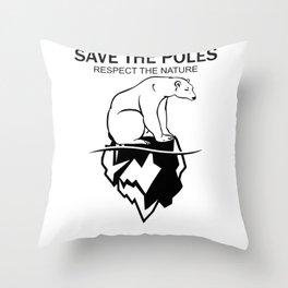 Save The Poles Throw Pillow